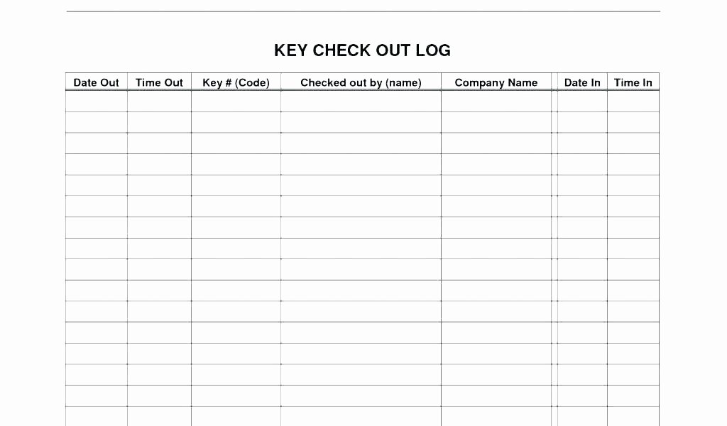 Check In Check Out Spreadsheet Lovely Inventory Check Out Sheet Template Equipment Checkout form