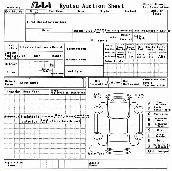 auction sheets