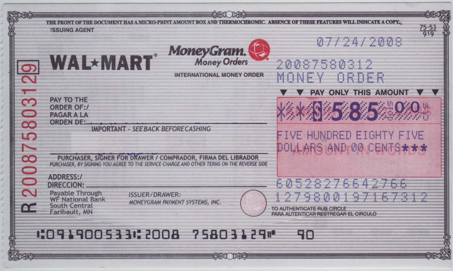 Check Template Filled Out Elegant How to Fill Out A Moneygram Money order Mkrdfo