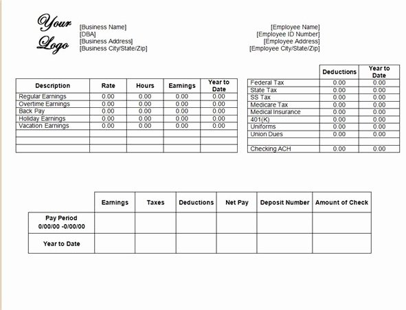 Check Template Filled Out Elegant Pay Stub Template Fill In Bing Images