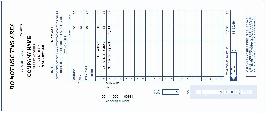 Check Template Filled Out Inspirational Free Printable Deposit Slip Template