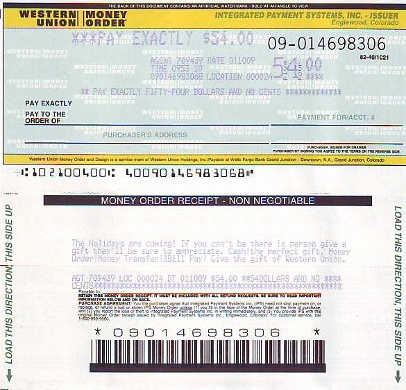 Check Template Filled Out Inspirational Picture Western Union Money order