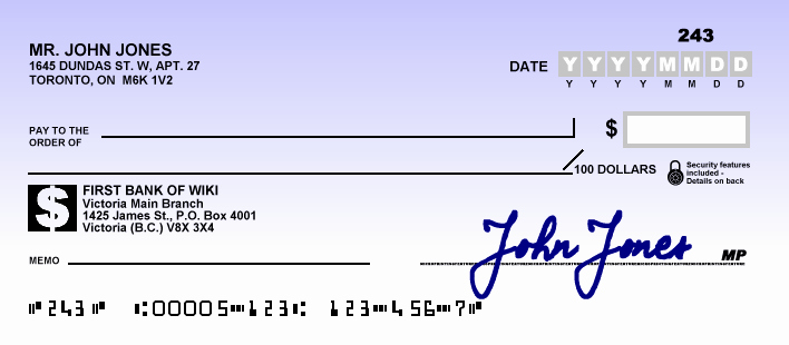 Check Template Filled Out Luxury Cheque What is It