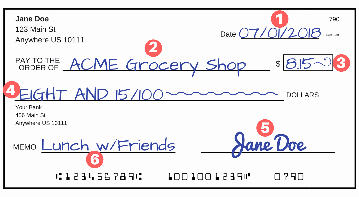 Check Template Filled Out Unique How to Write A Check A Step by Step Explanation