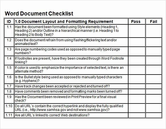 Check Template for Word Elegant Sample Blank Checklist Template 27 Documents Download