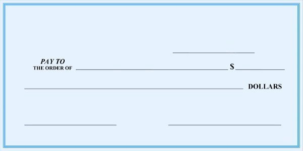 Check Template for Word Inspirational Blank Check Template