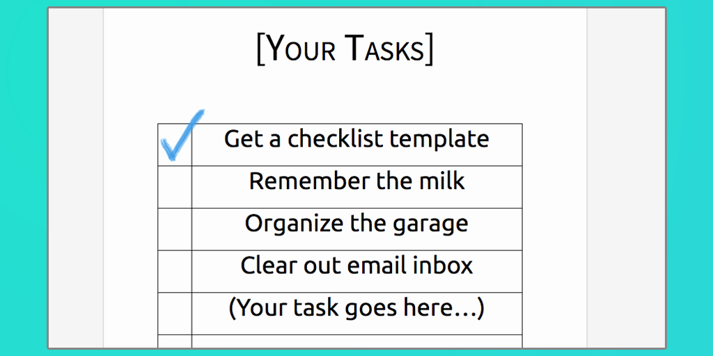 Check Template for Word New Download Your Free Microsoft Word Checklist Template