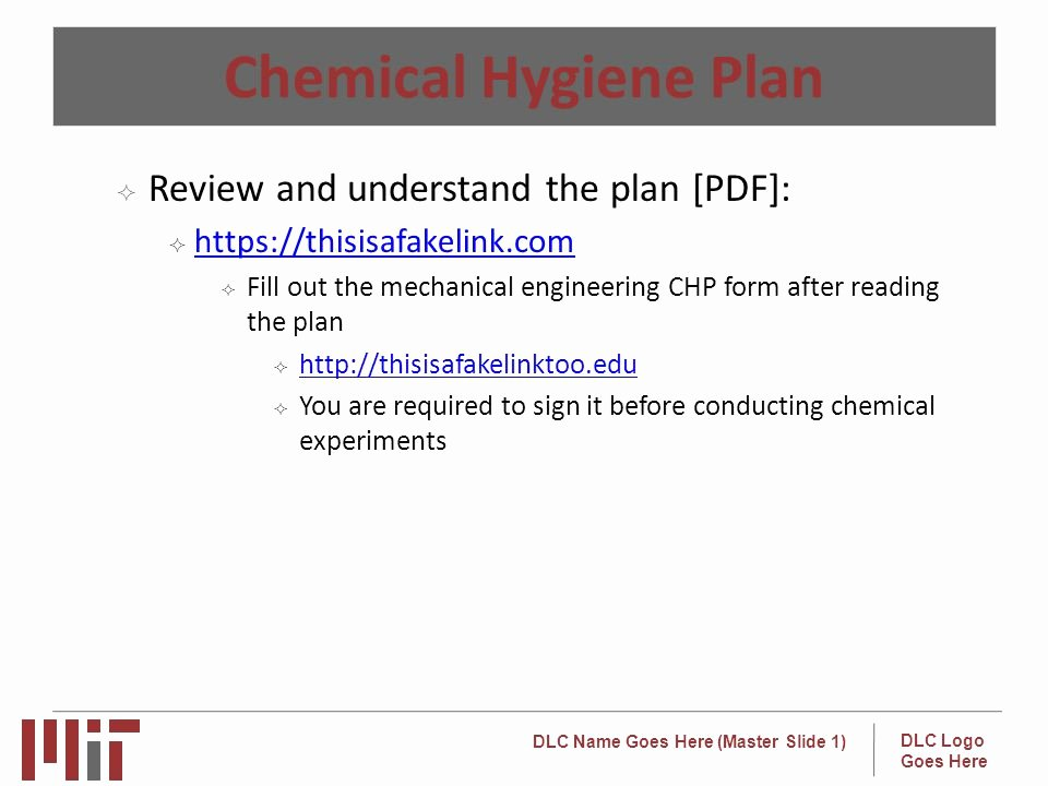 Chemical Hygiene Plan Template Best Of Lab Specific Training Template Ppt