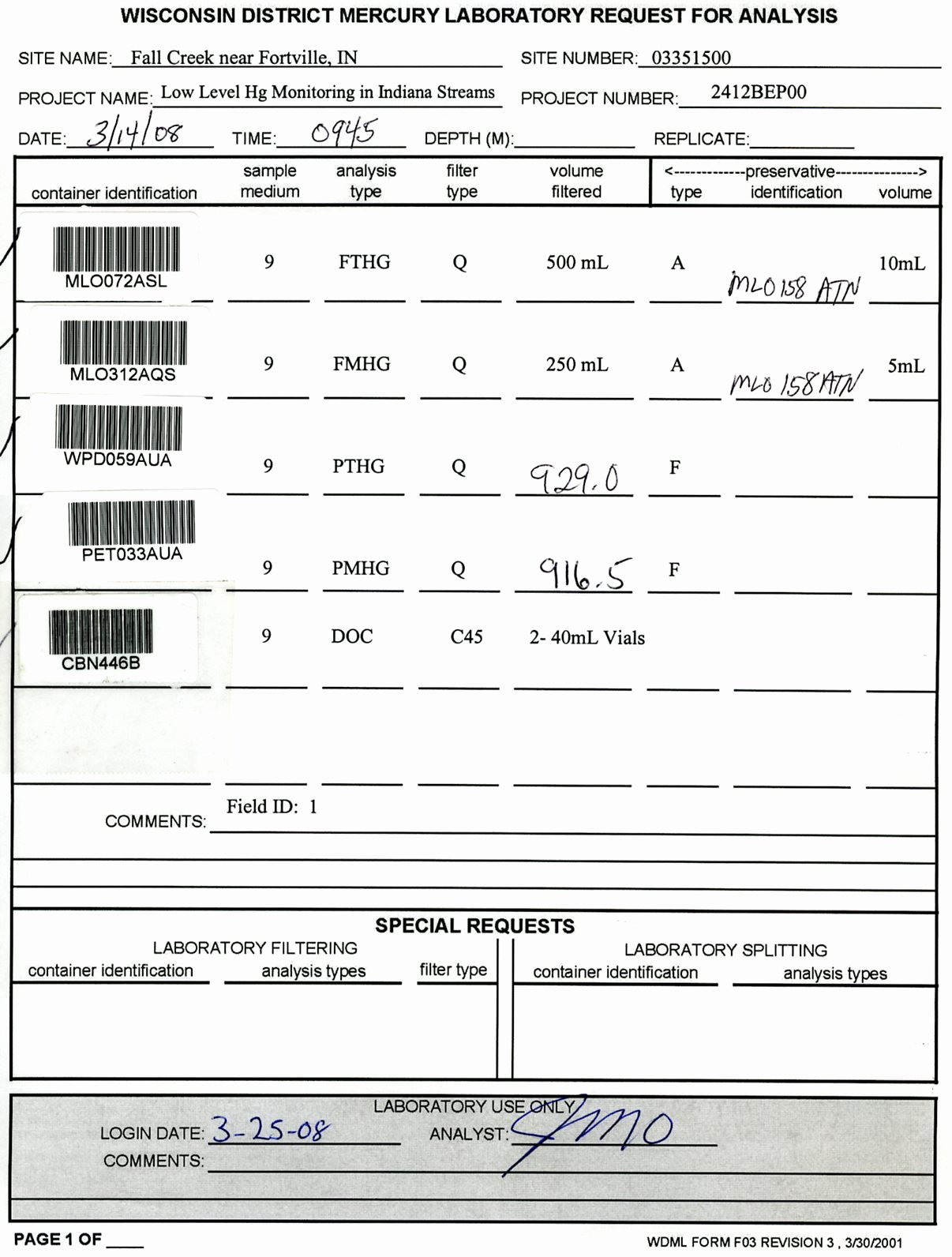 Chemical Hygiene Plan Template Luxury Sample Rfa form Filled Out Properly Usgs Mercury