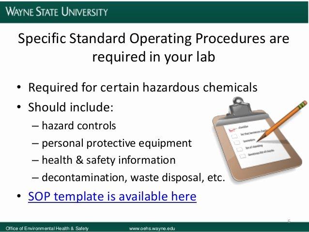 Chemical Hygiene Plan Template New Wayne State University Laboratory Safety Training