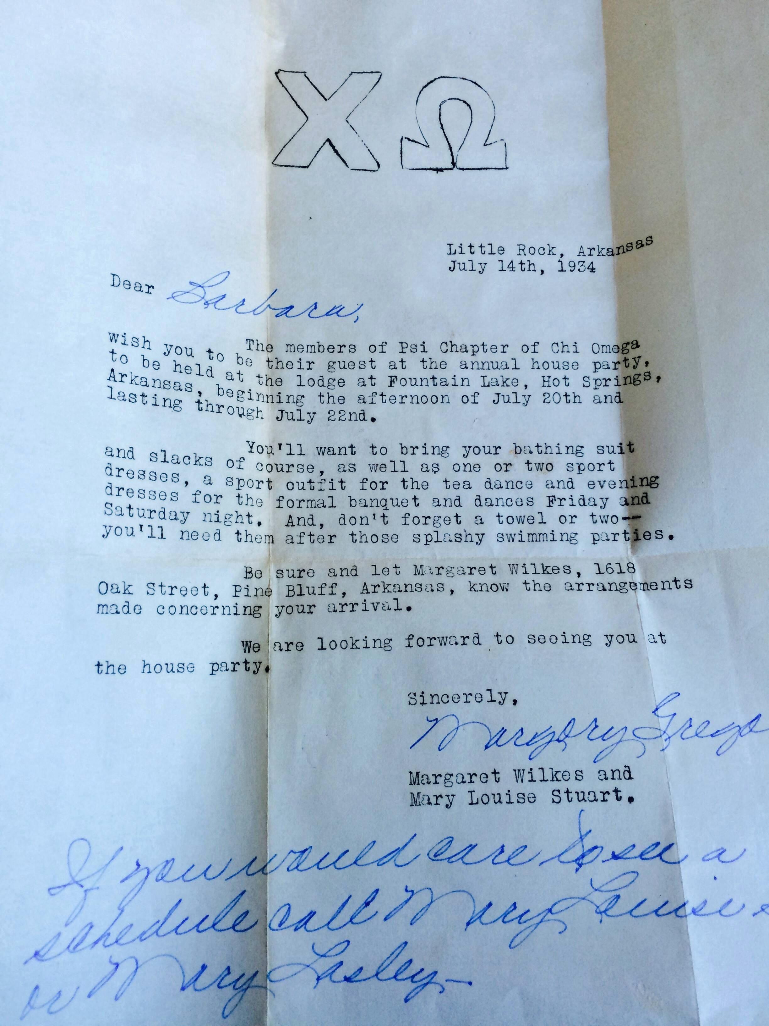 Chi Omega Letter Of Recommendation Luxury 1930s Chi Omega Letter X Post R Femalefashionadvice