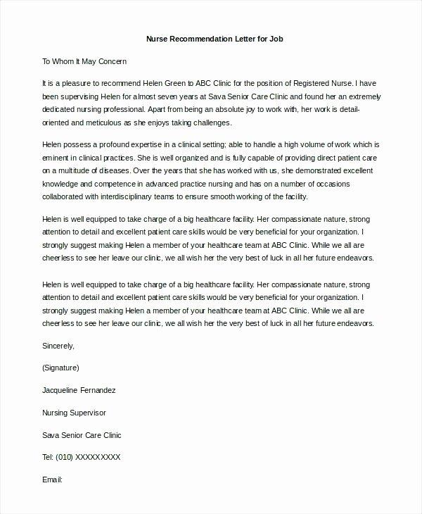 Child Care Letter Of Recommendation Unique Re Mendation Letter for Caregiver Cover Letter for