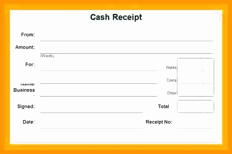 Child Care Payment Receipt Awesome 16 Cash Receipt formats