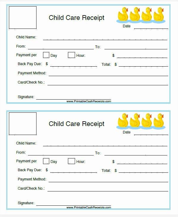 Child Care Payment Receipt Beautiful 5 Daycare Invoice Templates – Examples In Word Pdf