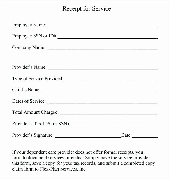 Child Care Payment Receipt Best Of 15 Child Care Receipts Template