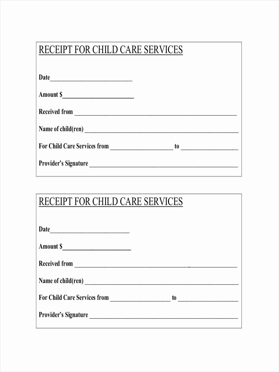 Child Care Payment Receipt Best Of 9 Daycare Receipt Examples & Samples