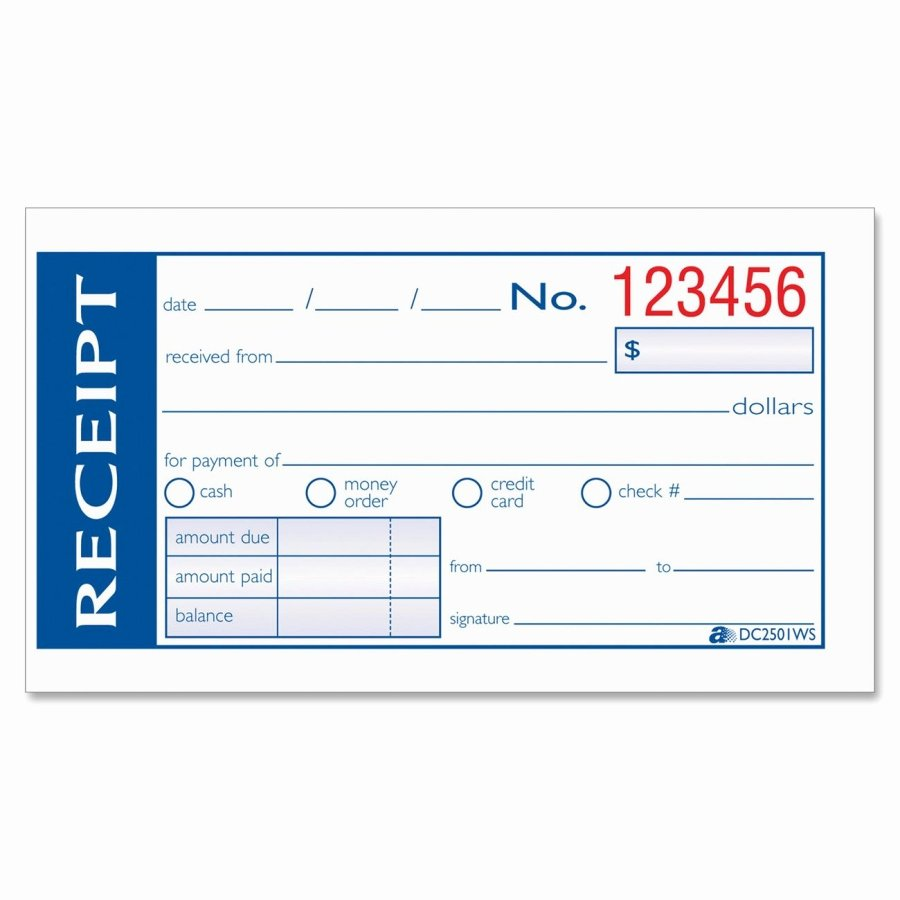 Child Care Payment Receipt Fresh Hand Written or Puter Generated Receipts