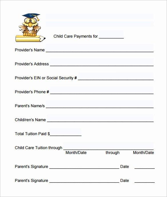 Child Care Payment Receipt New 20 Daycare Receipt Templates Doc Pdf