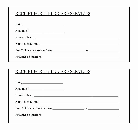 Child Care Receipt Template Elegant Childcare Receipt Child Care Tax Receipt Template Tax
