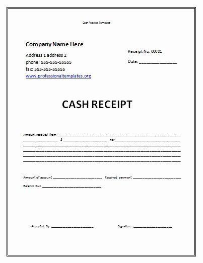 Child Care Receipt Template Fresh Receipt Template Free