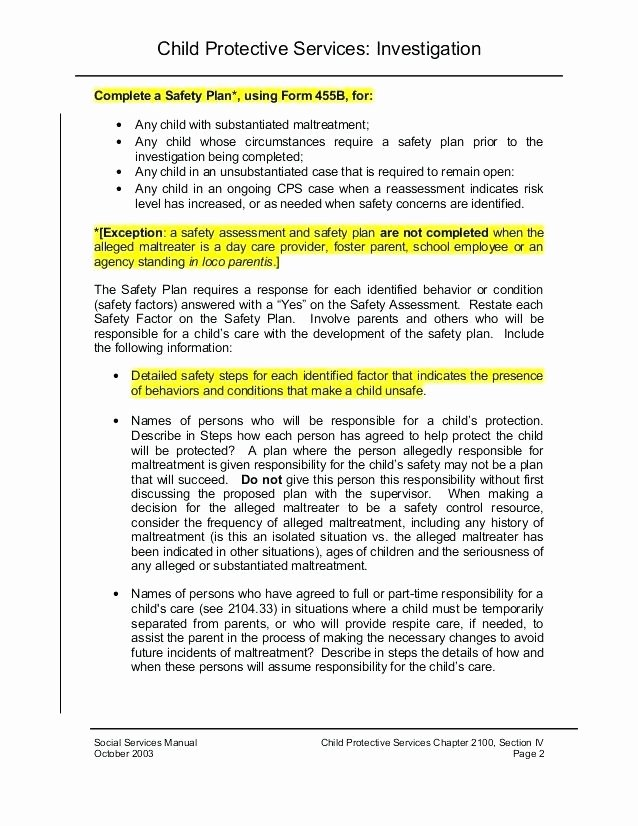 Child Safety Plan Template Beautiful Safety Plan Template Workplace Safety Plan Template Safety