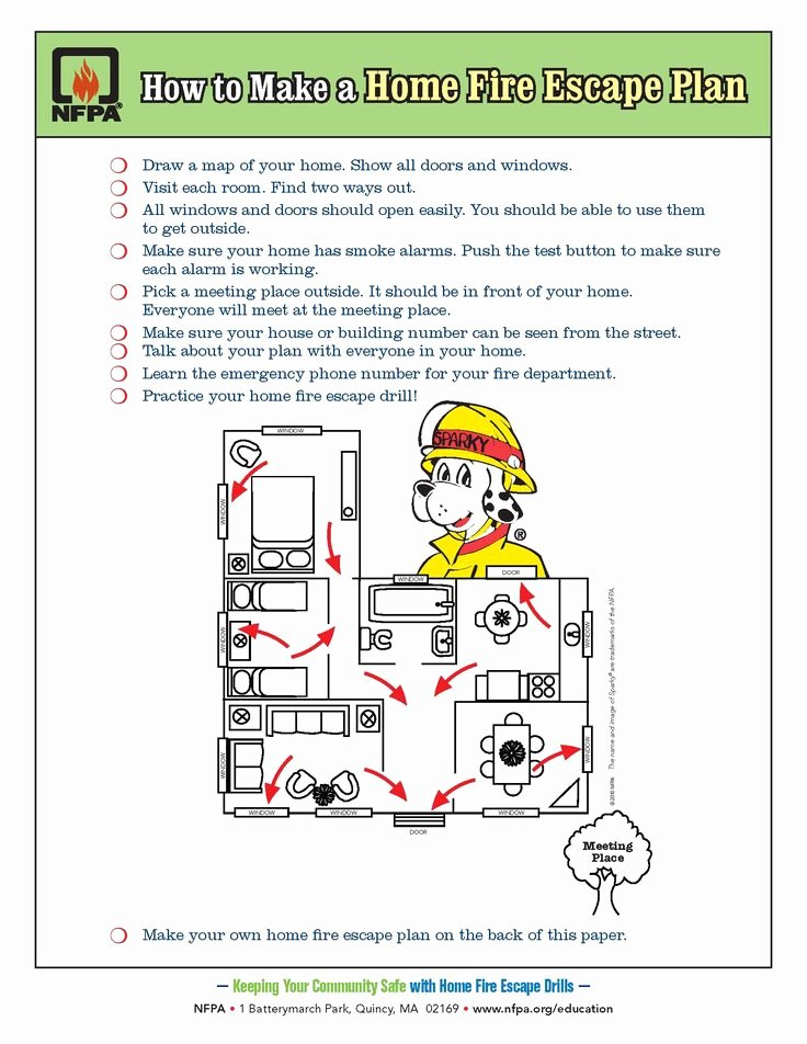 Child Safety Plan Template Luxury Draw A Home Fire Escape Plan Your Kids Practice Fire