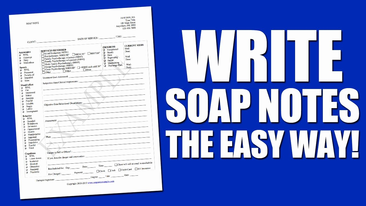 Chiropractic soap Note Example Unique Write soap Notes the Easy Way Using A soap Note Template