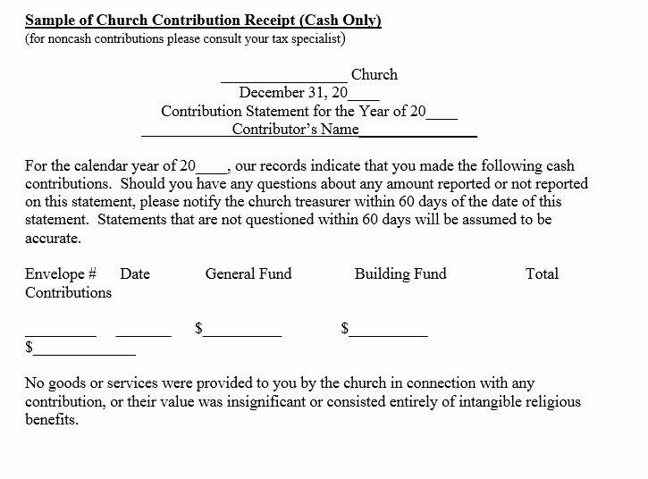 Church Donation Receipt Template Beautiful 12 Free Sample Donation Contribution Receipt Templates