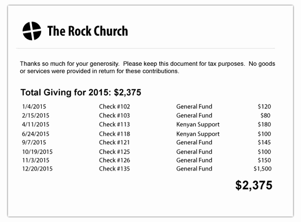 Church Donation Receipt Template Beautiful Church Donation Letter for Tax Purposes Template