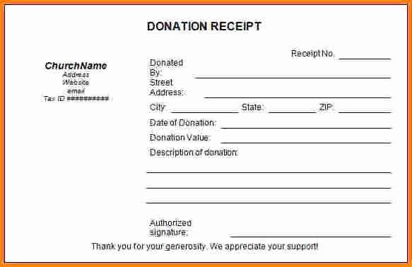 Church Donation Receipt Template Luxury 8 Tax Deductible Donation Receipt Template