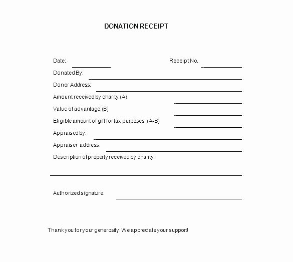 Church Donation Receipt Template Luxury Church Donation Receipt form Goodwill Awesome Fancy Pledge