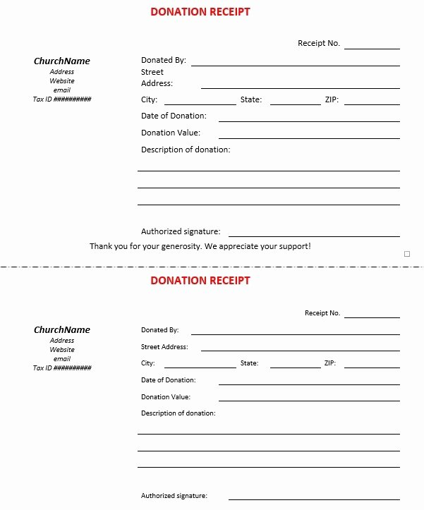 Church Donation Receipt Template New 12 Free Sample Donation Contribution Receipt Templates