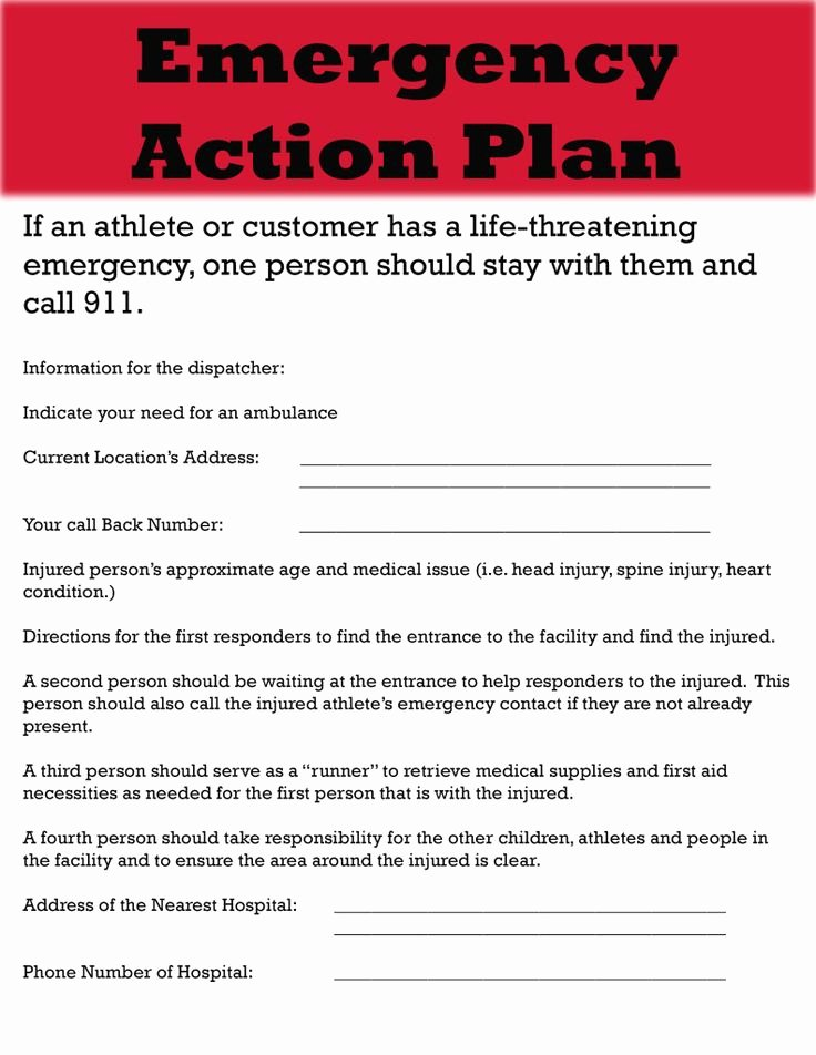 Church Emergency Action Plan Template Beautiful Emergency Action Plan Template