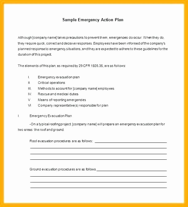 Church Emergency Action Plan Template Fresh Church Evacuation Plan Template