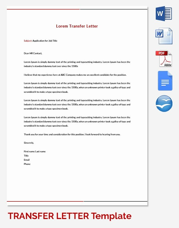 Church Membership Transfer Letter Template Elegant 39 Transfer Letter Templates Free Sample Example