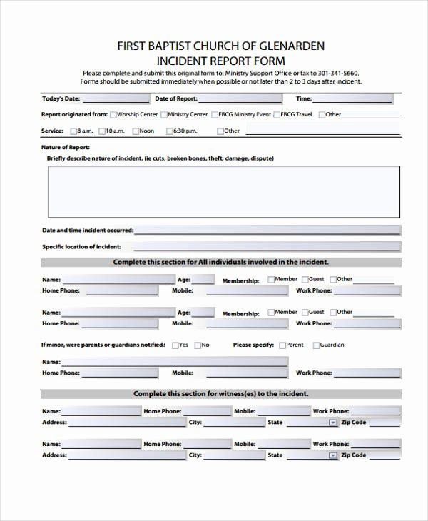 Church Security Plan Template Elegant Beaufiful Security Incident Report Template S