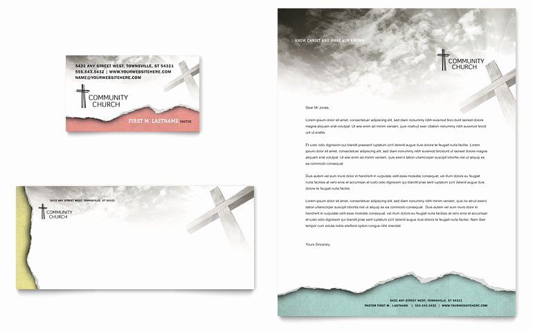 Church Security Plan Template Elegant Bible Church Business Card & Letterhead Template Word