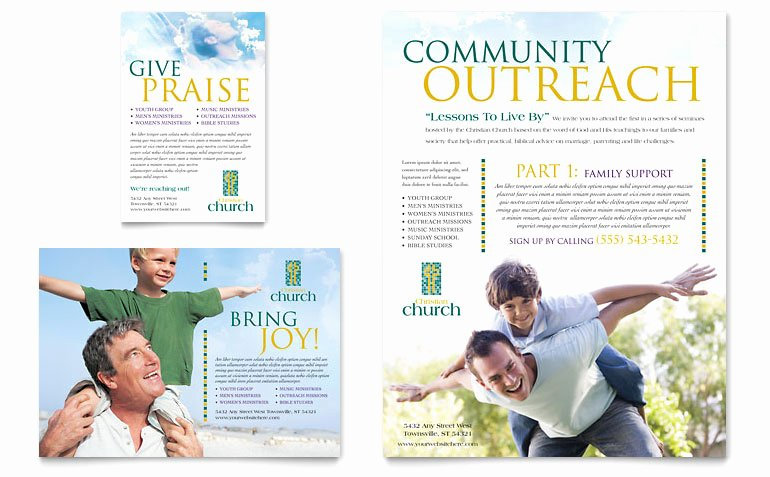 Church Security Plan Template Unique Christian Church Flyer & Ad Template Word & Publisher