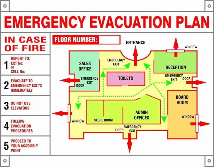 Church Security Plan Template Unique Evacuation Procedures Template south Africa Templates