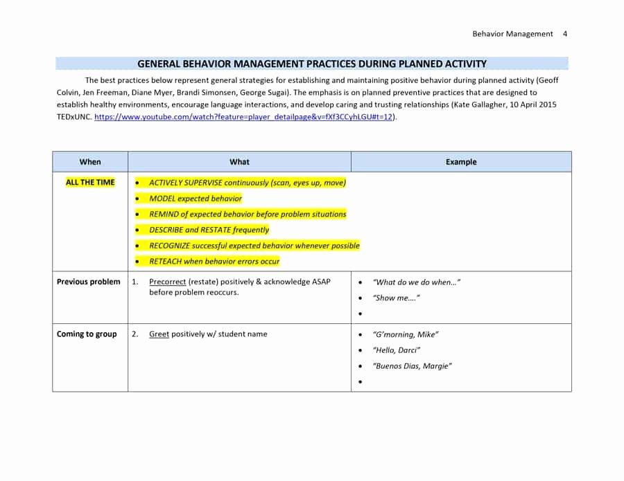 Classroom Management Plan Template Beautiful Classroom Management Plan 38 Templates & Examples