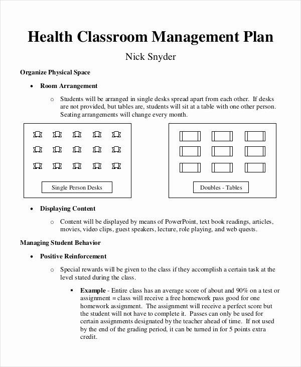 Classroom Management Plan Template Best Of 11 Classroom Management Plan Templates Free Pdf Word