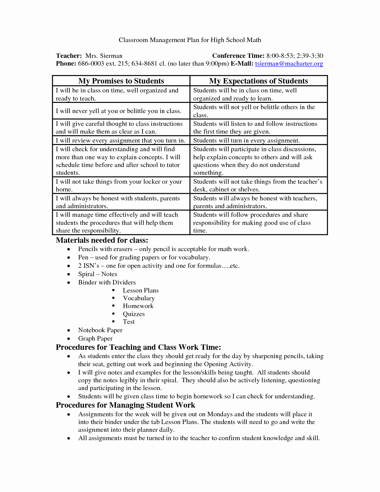 Classroom Management Plan Template Elementary Unique School Wide Examples Discipline Plan Classroom