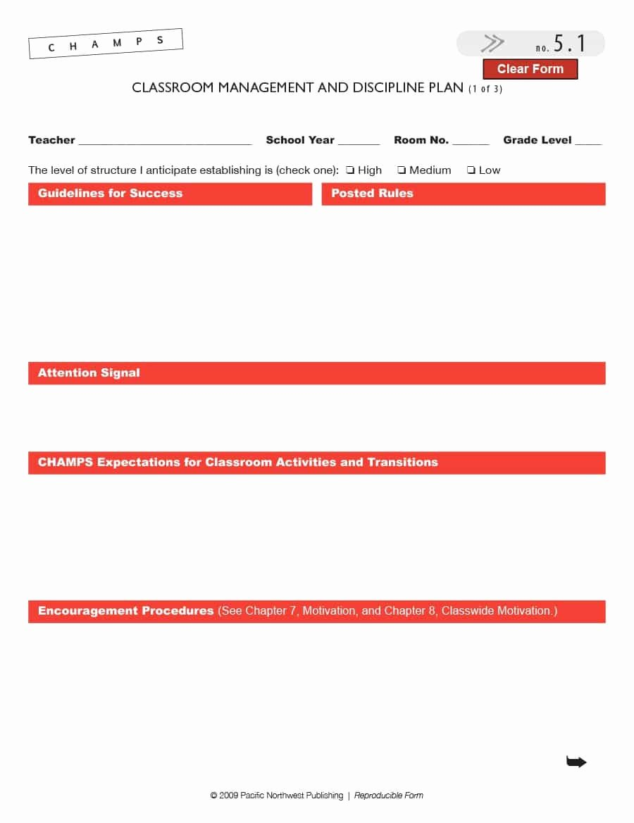 Classroom Management Plan Template Lovely Classroom Management Plan 38 Templates & Examples