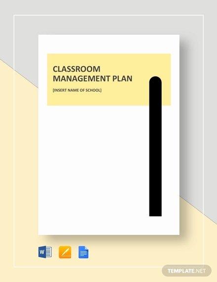 Classroom Management Plan Template Luxury 11 Classroom Management Plan Templates Free Pdf Word