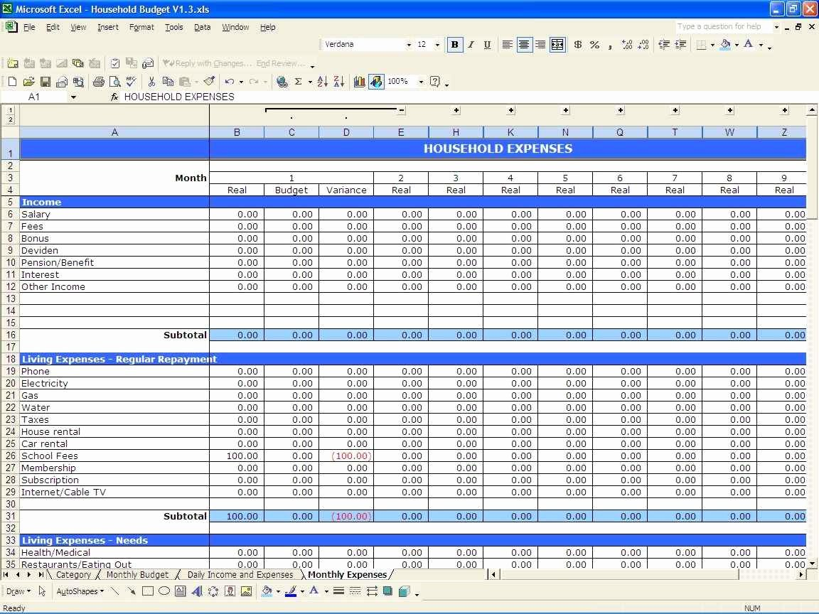 Cleaning Business Expenses Spreadsheet Awesome Household In E and Expenses Spreadsheet