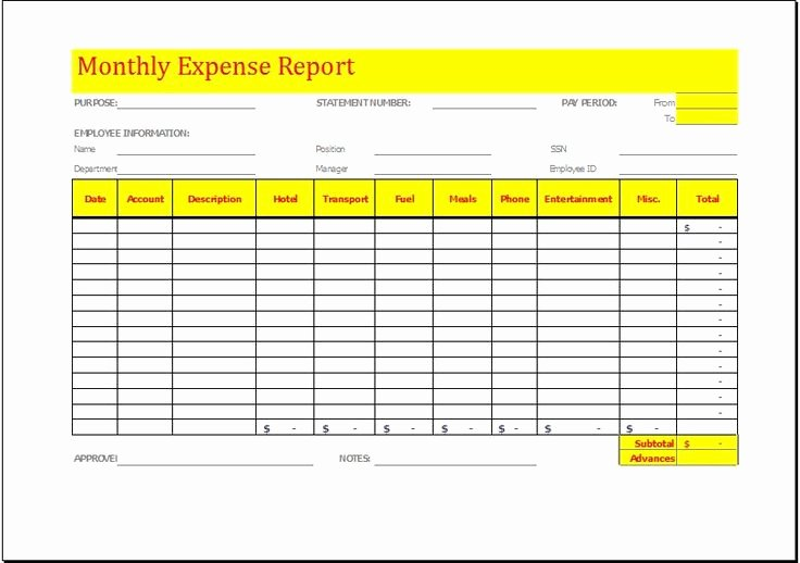 Cleaning Business Expenses Spreadsheet Beautiful Monthly Expense Report Template Download at