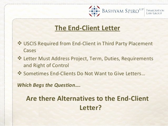 Client Letter format for H1b Best Of Bashyam Spiro Immigration Law Group Fy2014 H 1b Visa