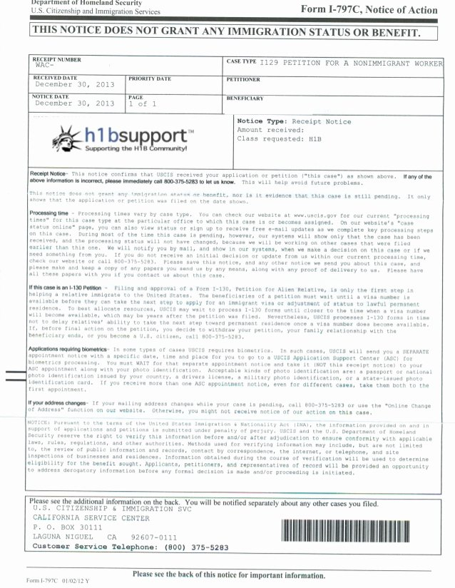 Client Letter format for H1b Best Of H1b Receipt Notice Sample H1bsupport