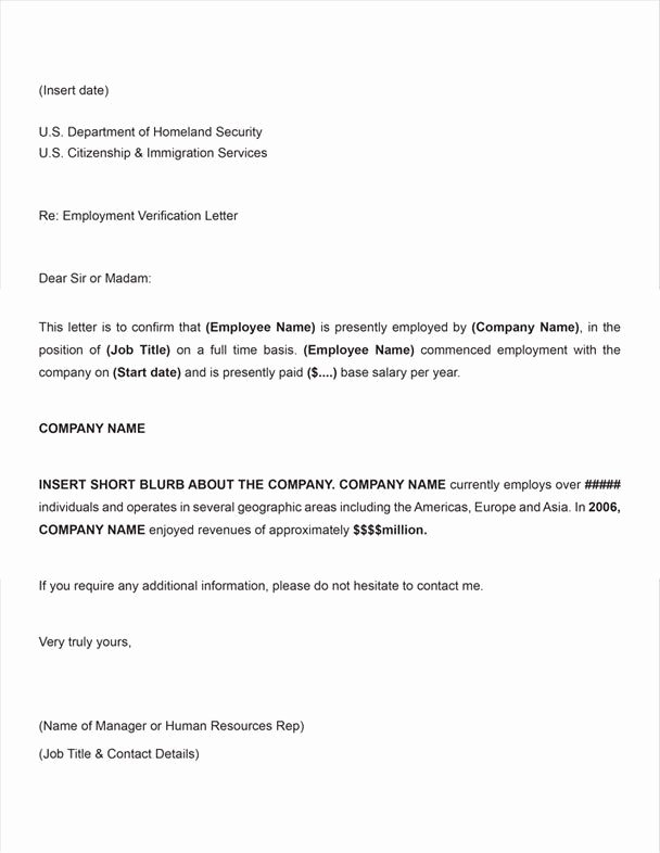 Client Letter format for H1b Elegant Certify Letter for Visa Application Employment