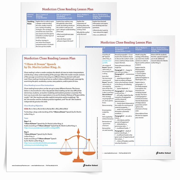 Close Reading Lesson Plan Template Fresh Download A Close Reading Lesson Plan to Help Students